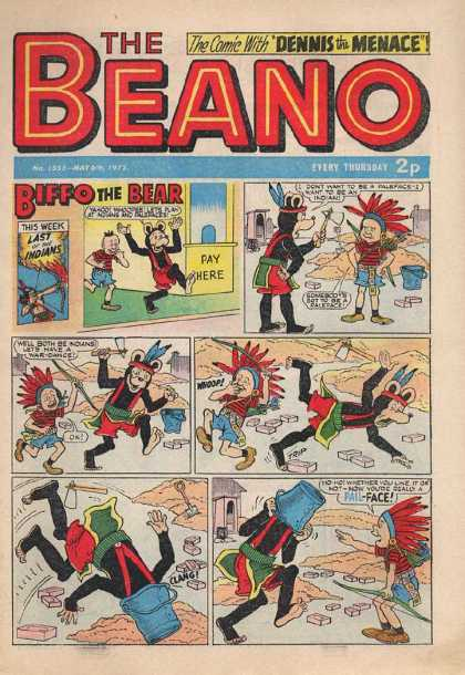 Beano 1555 - Dennis The Menace - Biffo The Bear - Indians - Beano - Politically Incorrect