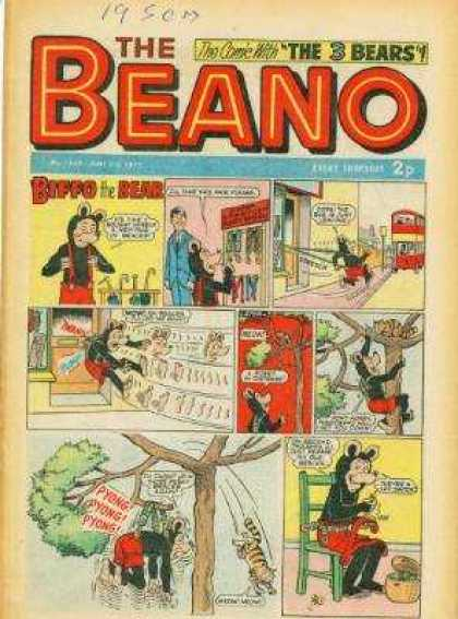 Beano 1559 - The Comic With The 3 Bears - Red - Overall - Mouse - Hanging