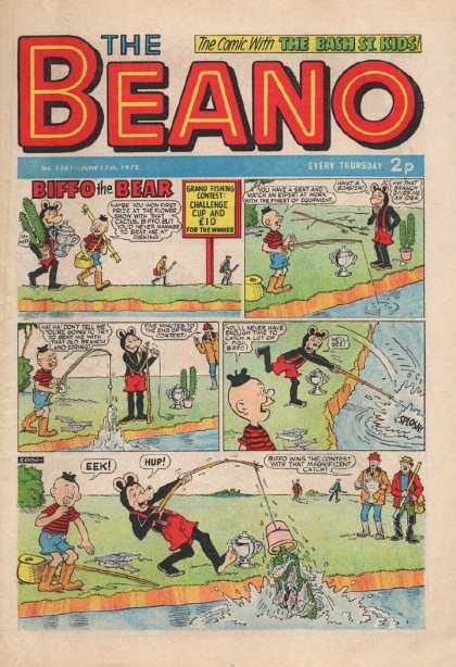 Beano 1561 - Bear - Suspenders - Fishing - Cactus - Reel