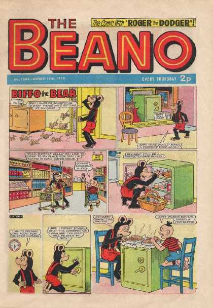 Beano 1569 - Roger The Dodger - Biffo The Bear - Safe - Shopping - Mice