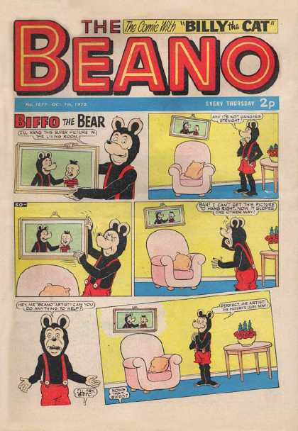 Beano 1577 - Biffo The Bear - Chair - Table - Picture - Comic