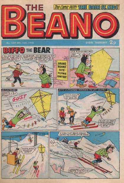 Beano 1587 - The Bash St Kids - The Bear - Kite Flying - Skylift - Snow