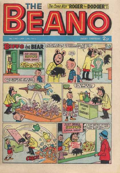 Beano 1591 - Biffo - Bear - China Shop - Chair - Bargains