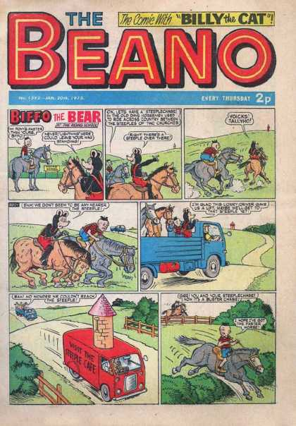 Beano 1592 - Billy The Cat - Horse - Road - Truck - Comic Strip