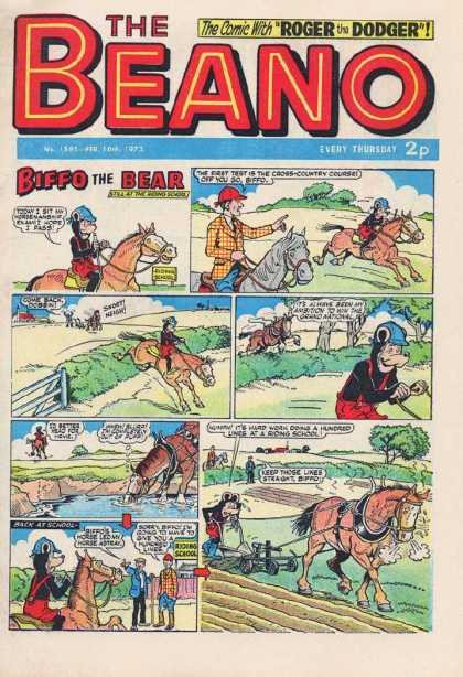 Beano 1595 - Horses - Bear - Hedges - Gates - Trees