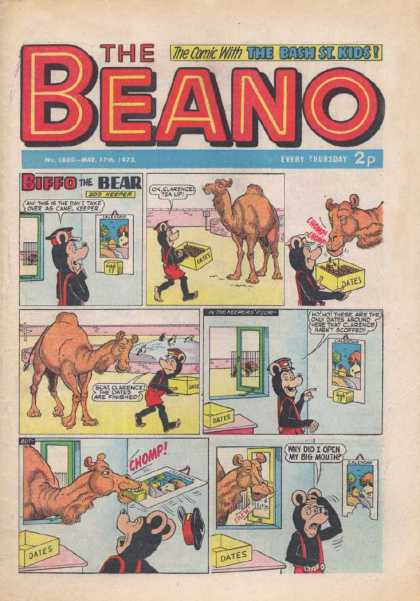 Beano 1600 - The Comic With The Bash St Kids - Camel - Biffo The Bear - Dates - Chomp