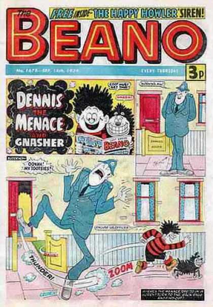 Beano 1678 - Dennis The Menace - 3p - Happy Howler - Dog - Thunder