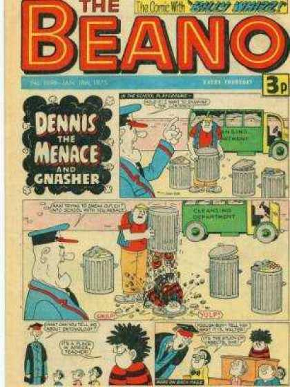 Beano 1696 - Dennis - Menace - Gnasher - Cap - Vehicle