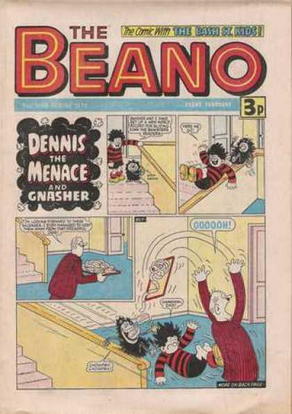 Beano 1698 - Dennis The Menace - Gnasher - Bannister - Stairs - Tray Of Food