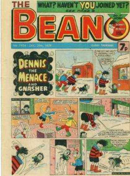 Beano 1954 - Whathavent You Joined Yet - Dennis The Menace - Gnasher - Boys - Winter