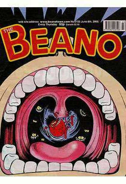 Beano 3125 - Teeth - Open Mouth - Leap - One Picture Schen In Mouth - Dark Page