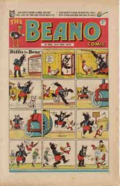 Beano 362 - Biffo - Bear - Steam Roller - Chicken - Ostrich