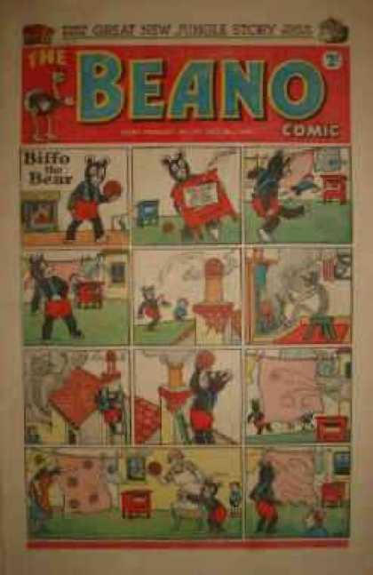 Beano 377 - Trouble - Making A Mess - Bear - Old Comic - Biffo