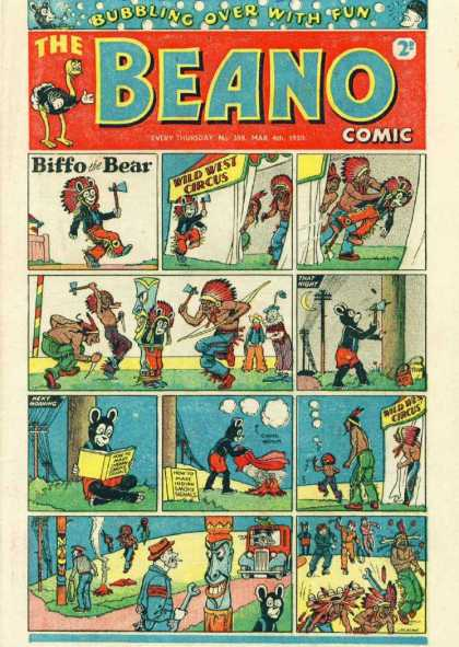 Beano 398 - Headdress - Hatchet - Feathers - Totem Pole - Fire