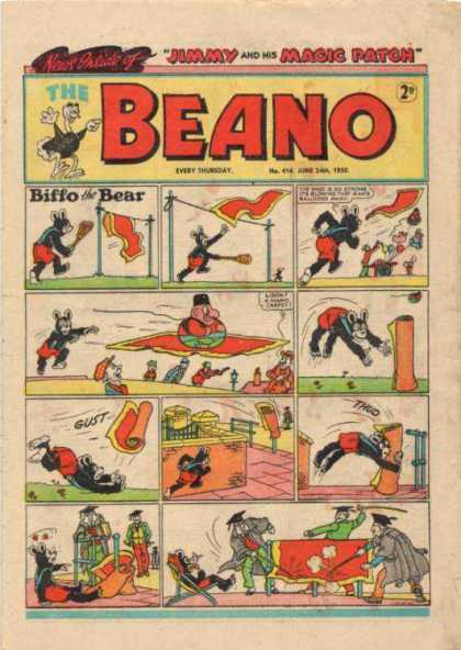 Beano 414 - Biffo The Bear - Magic Carpet - Flying Carpet - Rolled Carpet - Graduation