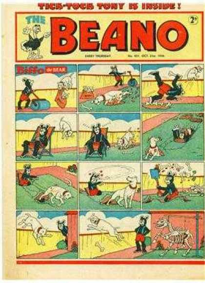 Beano 431 - Bear - Lawn - Dog - Bones - Shovel
