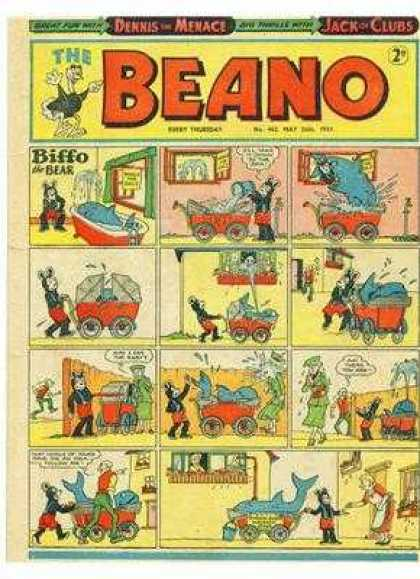 Beano 462 - Dennis The Menace - Jack Of Clubs - Biffo The Bear - Dolphin