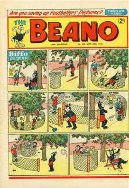 Beano 480 - Biffo The Bear - Footbollers Pictures - Beanos Power - Tree Saver - Intellidgent Bear
