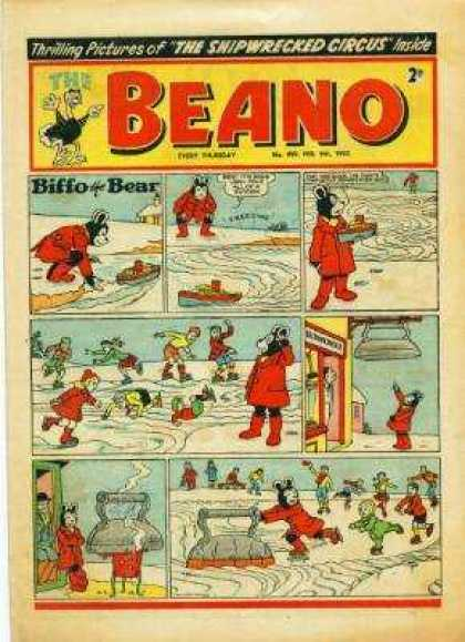 Beano 499 - The Shipwrecked Circus - Boat - House - Snow - Iron