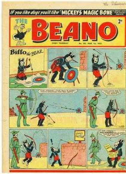 Beano 502 - Beano - Mickey - Magic Bone - Biffo - Bear