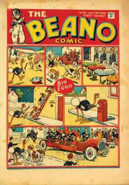 Beano 53 - The Beano Comic - Big Eggo - Ostridge - Goat - Firetruck