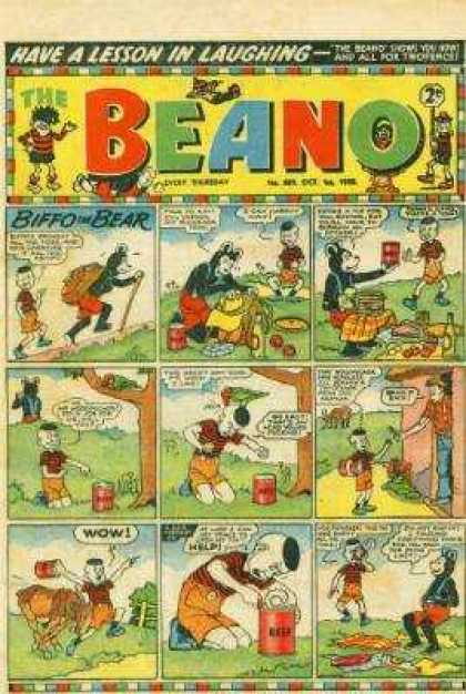 Beano 689 - Lessons - Laughing - Comic - Biffo - Bear