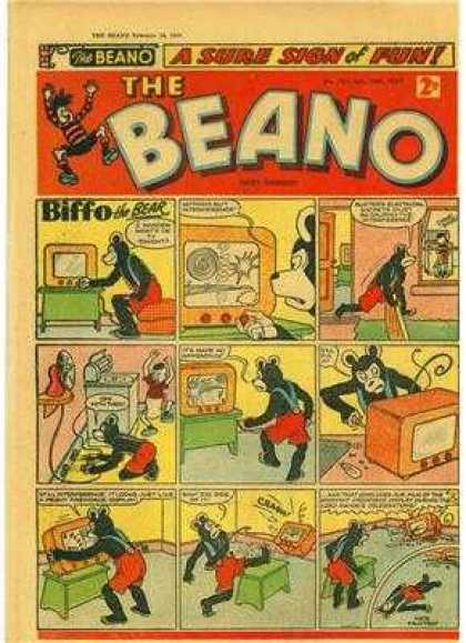 Beano 761 - A Sure Sign Of Fun - Biffo - Television - Wire - Tuning