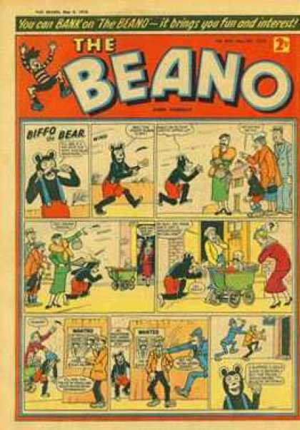 Beano 824 - Biffo The Bear - Classic Comics - Old Comics - Vintage - 2 Cents