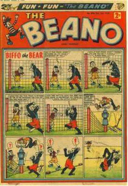 Beano 898 - Biffo The Bear - Fence - Jack Hammer - Fight - Question Marks
