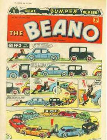 Beano 941 - Mouse - Cuban Cars - Oldstyle - Funny - Crash