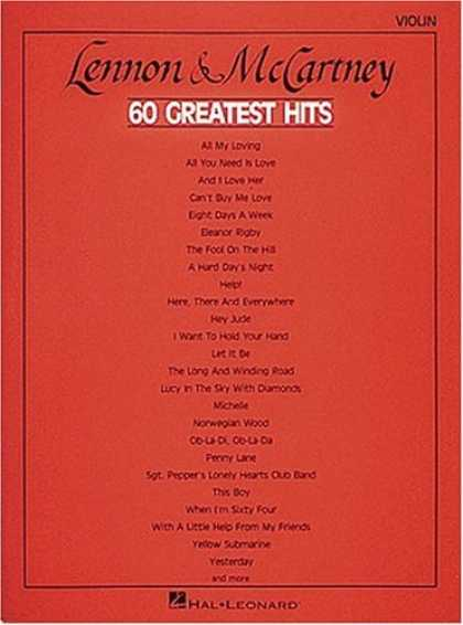 Beatles Books - Lennon and McCartney - 60 Greatest Hits - Violin