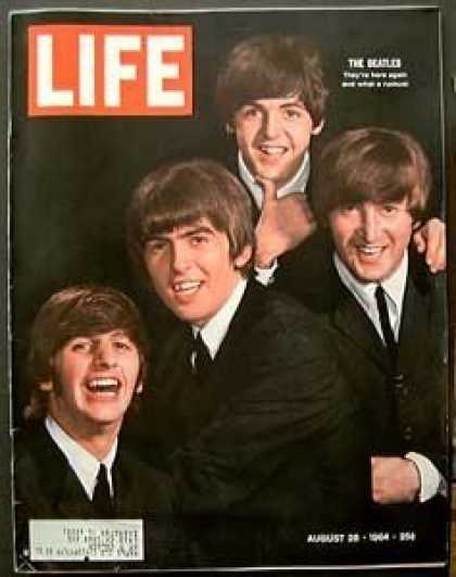 Beatles Books - Life Magazine August 28, 1964 - Cover: The Beatles