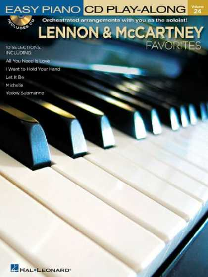 Beatles Books - Lennon and McCartney Favorites: Easy Piano CD Play-Along Volume 24