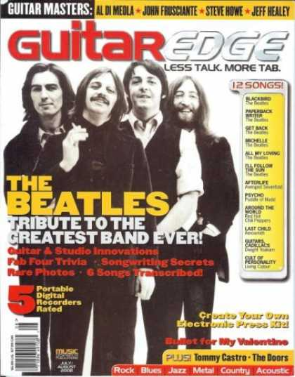Beatles Books - Guitar Edge Magazine (July/Aug 2008) (The Beatles: Tribute To The Greatest Band