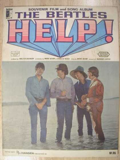 Beatles Books - The Beatles Help! Souvenir Film and Song Album