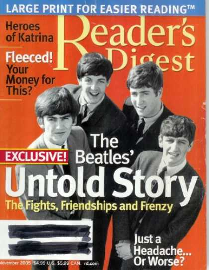 Beatles Books - Reader's Digest Magazine - November 2005 - Large Print