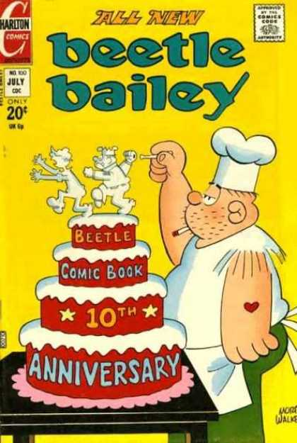 Beetle Bailey 100 - Mort Walker - Cook - Decorating Cake - Anniversary - Comic Book