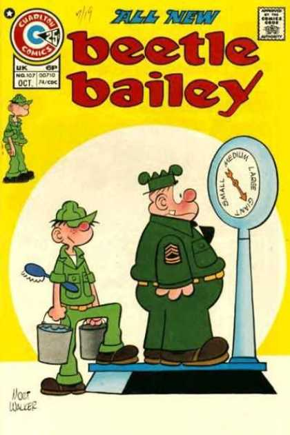 Beetle Bailey 107 - All New - Balance - Cuaditon Comics - Soldier - Authority