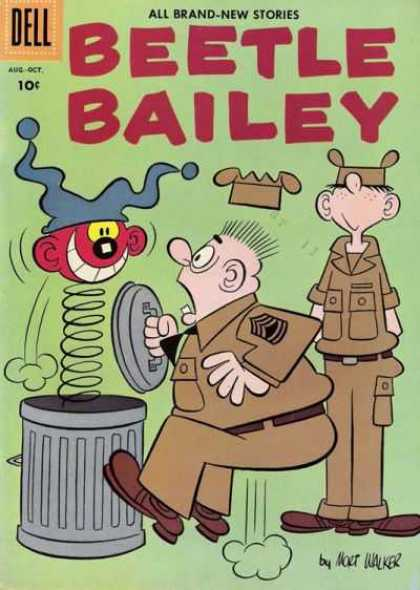 Beetle Bailey 11 - Beatle Bailey - Jack In The Can - Garbage Can - Mort Walker - Soldiers