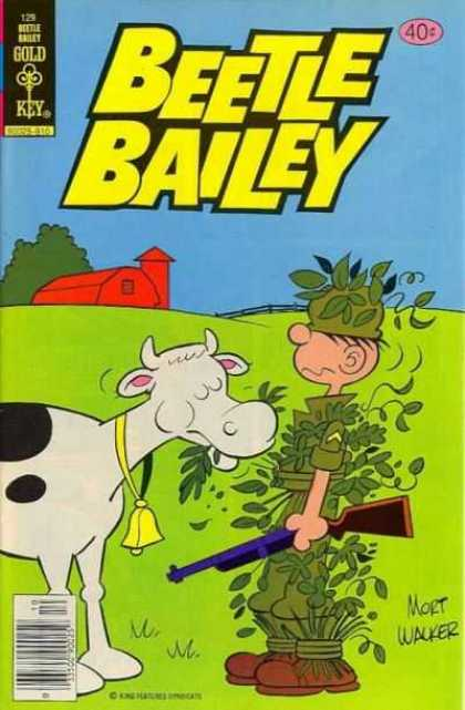 Beetle Bailey 129 - Farm - Cow - Soldier - Gun - Leaf