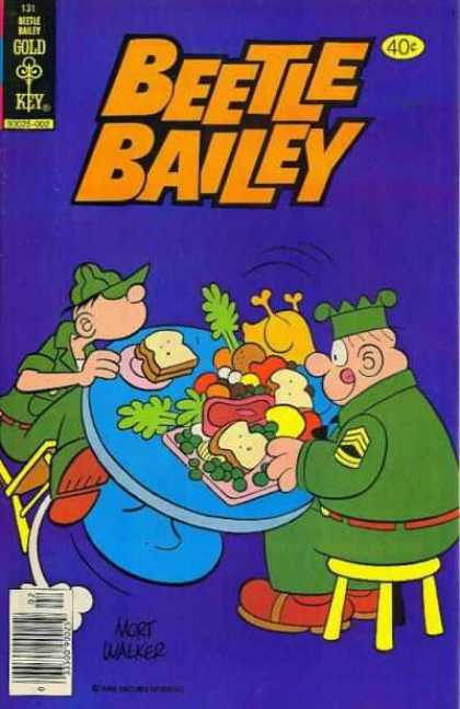 Beetle Bailey 131 - Soldiers - Sandwich - Turkey - Table - Stool