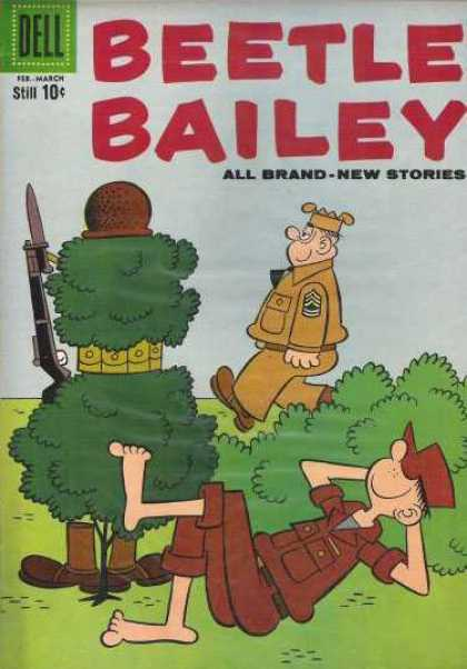 Beetle Bailey 19 - Gun - Soldier - Tree - Napping - Brown Boots