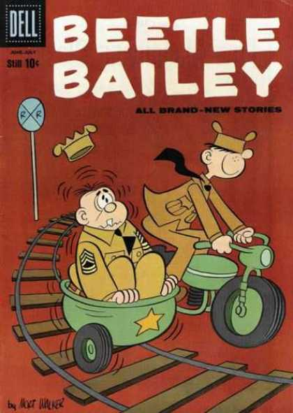 Beetle Bailey 27 - Army - Military - Uniforms - Motorcycle - Sidecar