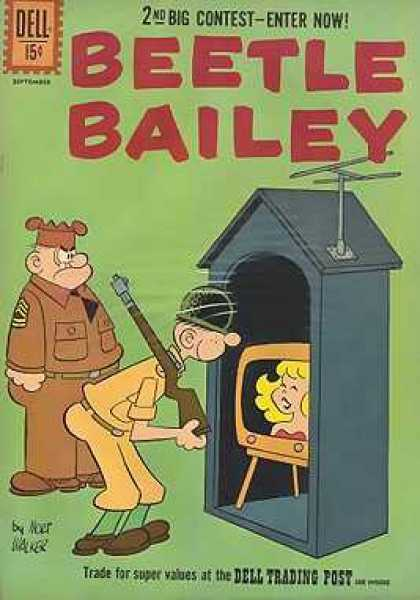 Beetle Bailey 34 - Soldiers - Guardhouse - Rifle - Tv - Antenna