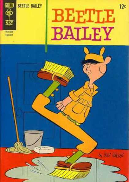 Beetle Bailey 48 - Gold Key - Mop - Bucket - Puddle - Brushes