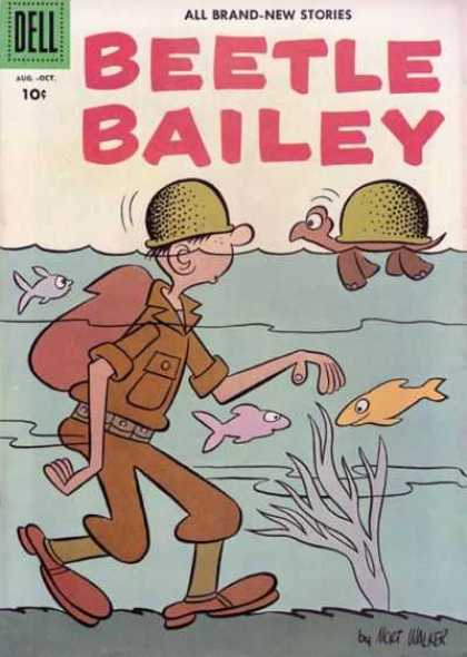 Beetle Bailey 7 - Water - Fish - Soldiers - Turtle - Dell