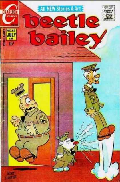 Beetle Bailey 82 - All New Stories U0026 Art - Charlton Comics - Comics Code - July Cdc - Dog