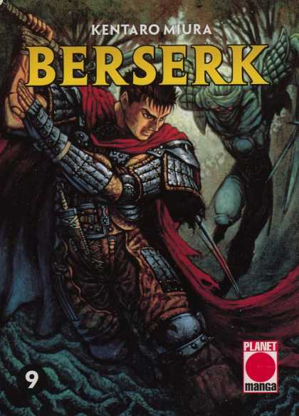 Berserk 9 - Red Cape - Swords - Forest - Trees - Rope