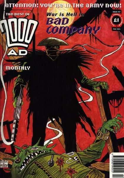 Best of 2000 AD 101 - War Is Hell - Bad Company - Attention - Army - Red