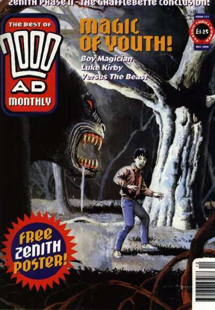 Best of 2000 AD 111 - Magic Of Youth - Boy Magician - Luke Kirby - Yersus The Beast - Free Zenith Poster